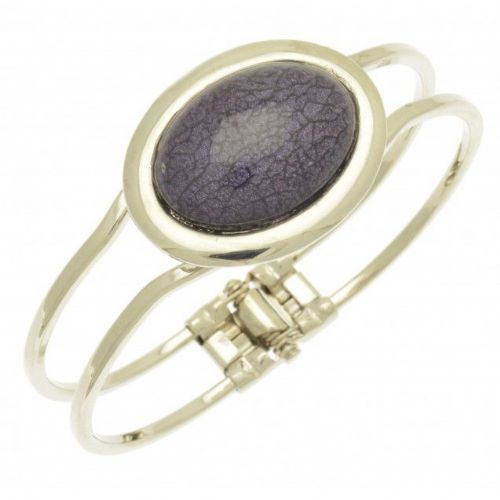 Miss Milly Purple Marble Resin Bracelet